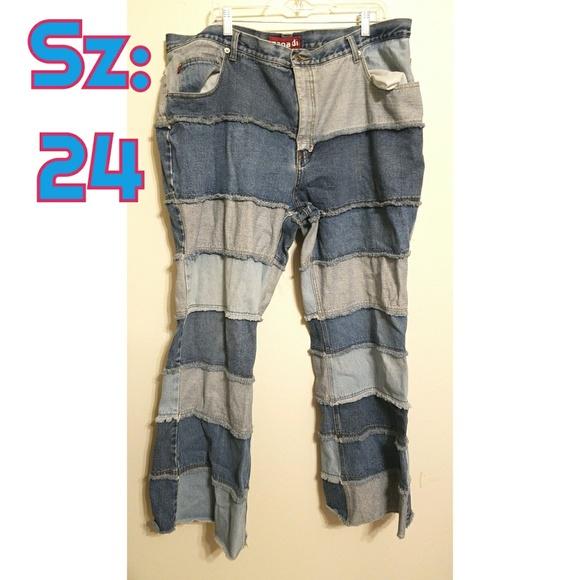 Y2K plus size jeans